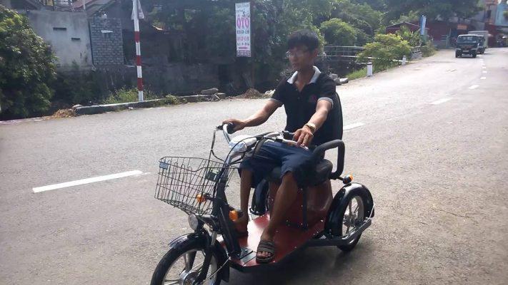 Xe điện 3 bánh tự chế